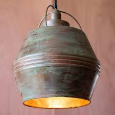 image vintage drum pendant lighting. Wonderful Lighting Lighting Verdigris Vintage Copper Pendant Light Ideas  Cluster  Intended Image Drum Lighting