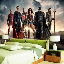 custom 3d wallpaper justice league wall