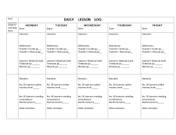Daily Lesson Plan Template Doc Deped Yourpersonalgourmet Com