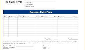 Sample Reimbursement Forms Free Mileage Form Company Claim Template ...