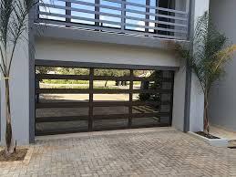 aluminium door with framed glass panels