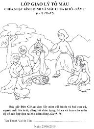 Tranh tô màu - Lễ Mình và Máu Chúa Ki-tô - Năm C – TGP HÀ NỘI