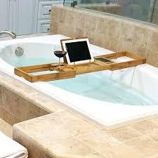 over the tub caddy bamboo bathtub clawfoot tub wood caddy