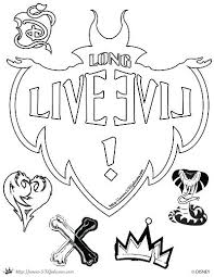 Coloring Pages Descendants 2 Evie And Mal Jay Interactive Coloring