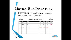 keep track of inventory use the moving box inventory spreadsheet to keep track of