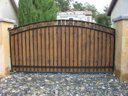 wood gate for traditional arched wood driveway gates and wooden driveway gates plans