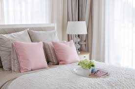 This Bedroom Is Pretty In Soft Pink And Neutrals. Virtually All Of The  Surfaces And Fabrics Are Done In Soothing Neutral Shades, From The White  Sheers To ...
