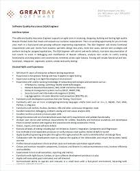 Software Qa Manager Resumes Software Quality Assurance Engineer Job Description