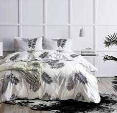 black white bed cover set 2 green gold palm leaves bedding set twin queen king size past bed linen quilt cover no sheet linen bedding bedspread sets