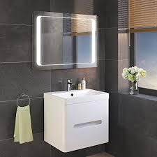 900 x 650 mm Illuminated LED Bathroom Mirror Light with Sensor