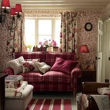 country cottage style living room. Laura Ashley Country Cottage Love The Raspberry Tartan Not Crazy About Colors Style Living Room T