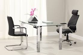 glass top office furniture.  glass furniture  elegant bright office interior design home furniture  with comfy black chairs and tufted with glass top office