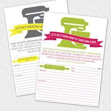 Kitchen Bridal Shower Similiar Bridal Shower Invitations With Recipe Cards Keywords