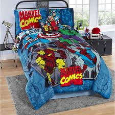 Marvel Comics Reversible FULL Comforter Set 7 Pieces! Thor Iron Man New  22518BB