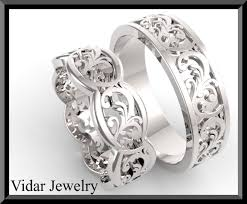 his and hers wedding sets. his and hers wedding bands,matching bands set,diamond gold,engagement band,unique matching sets d