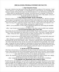 Personal Statement Tip 7 Sample Medical School Personal Statements Word Pdf