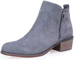 gabor solero women s fashion ankle boots in anthracite grey nubuck modern tonal grey ankle boots with decorative leather studded straps modern and