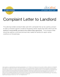 Best Ideas Of Sample Of A Complaint Letter To Landlord In