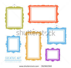 paper flyer vector illustration set white rectangular frames stock vector