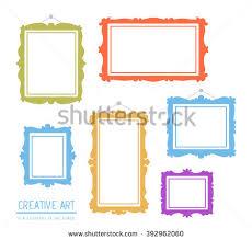 paper flyer vector illustration set white rectangular frames stock vector