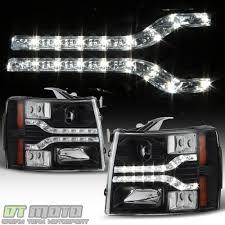 Blk 2007-2013 Chevy Silverado 1500 2500 3500 LED DRL Strip ...