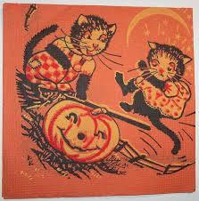 vintage halloween black cat. Beautiful Cat Vintage Halloween U2013 Black Cats Intended Cat P
