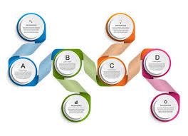 Creative Organization Chart Design Infographic Design Organization Chart Template Stock Vector