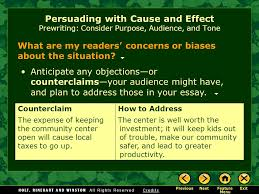 writing workshop persuading cause and effect ppt video persuading cause and effect prewriting consider purpose audience and tone