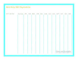 Bills Calendar Template Printable Monthly Bill Payment Free ...