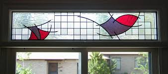 abstract stained glass stained glass transom transom window