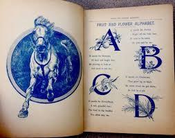 childhoods happy hours antique 1890 s victorian children s story poem book