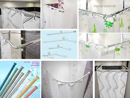 Ceiling Mounted Shower Curtain Rods ceiling mount for shower curtain rail rod aluminium in chrome 3756 by xevi.us