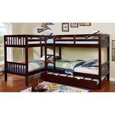 Dark Walnut Double Twin-over-Twin Bunk Bed with Trundle - Marquette | RC  Willey Furniture Store