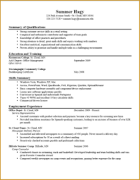 Resume Sample Personal 8 College Student Resume Example Budget