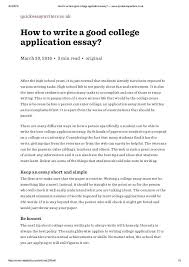 College Essays Tips How To Write A Great College Admissions Essay Tips For Application