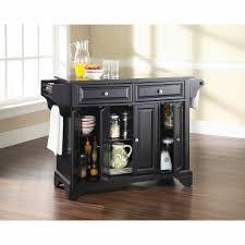 Kitchen Island Table With Granite Top Crosley Furniture Lafayette Solid Black Granite Top Kitchen Island