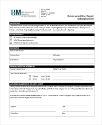 Direct Debit Form Sample Direct Deposit Authorization Form - 10+ Free Documents in PDF