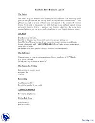 Basic Business Letters Guide To Basic Business Letters Business Communication