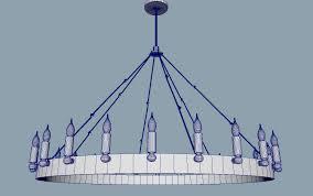 camino vintage candelabra 3d model obj fbx mb