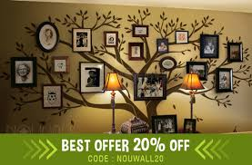zoom on family tree wall art picture frame with photo frame wall decal family tree wall decals wall