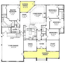 4 bedroom house floor plans 4 bedroom 3 bath country farmhouse with split floor plan and