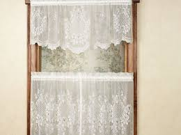 Curtains:Lace Tier Curtains Q Beautiful Lace Tier Curtains Cameo Rose  Tailored Tier Pair Astounding