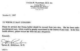 How To Get A Doctors Note For Jury Duty Under Fontanacountryinn Com