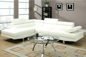 white faux leather sectional sofa cream s