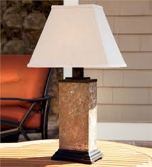 slate outdoor table lamp with all weather shade lamps lighting for prepare 9