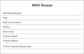 receipt blank blank receipt template for house rent month to month vesnak