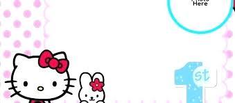 Printable Hello Kitty Invitations Personalized Hello Kitty Template
