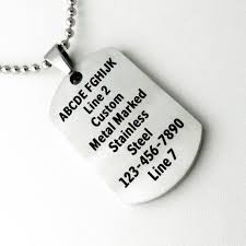 small dog tag necklace personalized