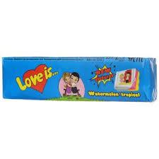 <b>Жев</b>.<b>конфета LOVE IS</b> со вкусом арбуз-тропик 18*12*25 г