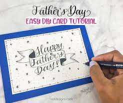 Personalized father's day gifts 2021 from zazzle. Fun And Easy Diy Father S Day Card With Lettering Tutorial Vial Designs